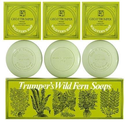 LUXURY SOAP TRIPLE PACK WILD FERN 3 x 75g