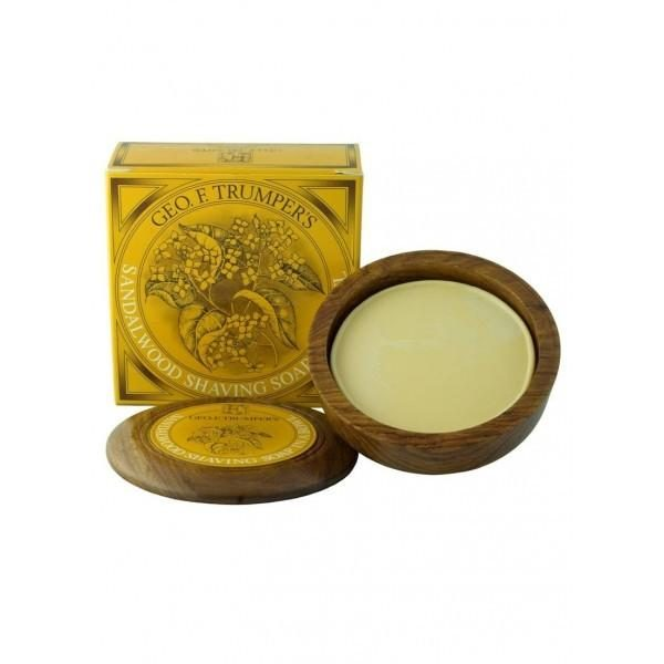 Sandalwood Hard Shaving Soap in Wooden Bowl 80g