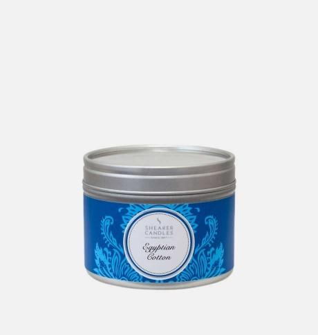 Candle in can Egyptian Cotton