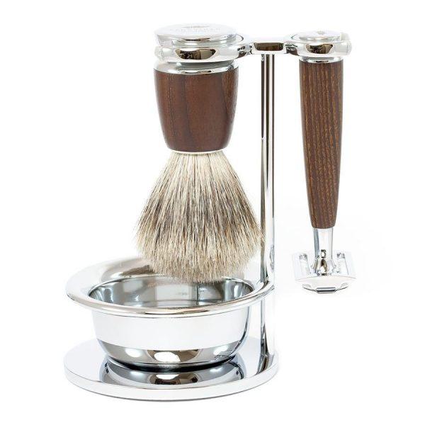 4-piece set ASH with safety razor